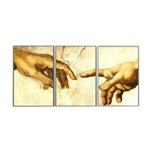 Trzyczęściowy obraz Hands, 45x90 cm