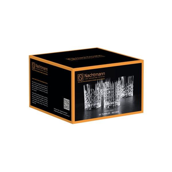Zestaw 4 szklanek do whisky ze szkła kryształowego Nachtmann Highland, 345 ml