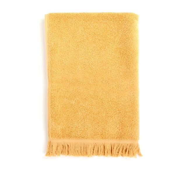 Zestaw 2 żółtych ręczników kąpielowych i 2 ręczników Casa Di Bassi Sun