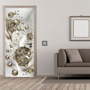 Fototapeta na drzwi Bimago Bubble Abstraction, 80x210 cm