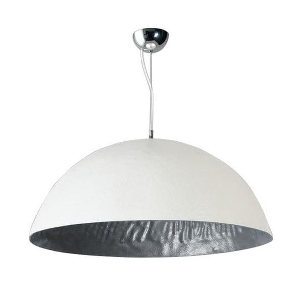 Biało-srebrna lampa wisząca ETH Mezzo Tondo, ⌀ 70 cm