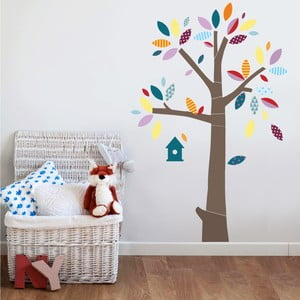 Naklejka Drzewo z kolorowymi liśćmi, 70x50 cm