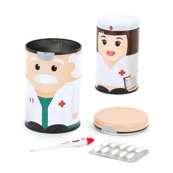 Pojemniki na leki Dr & Nurse, 2 szt.