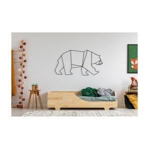 Łóżko dziecięce z drewna sosnowego Adeko Mila BOX 4, 100x190 cm