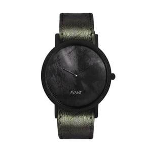 Czarny zegarek unisex z ciemnozielonym paskiem South Lane Stockholm Avant Diffuse