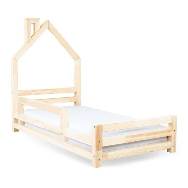 Czarne boki łóżka z drewna sosnowego do łóżka Benlemi Safety,dł.90cm