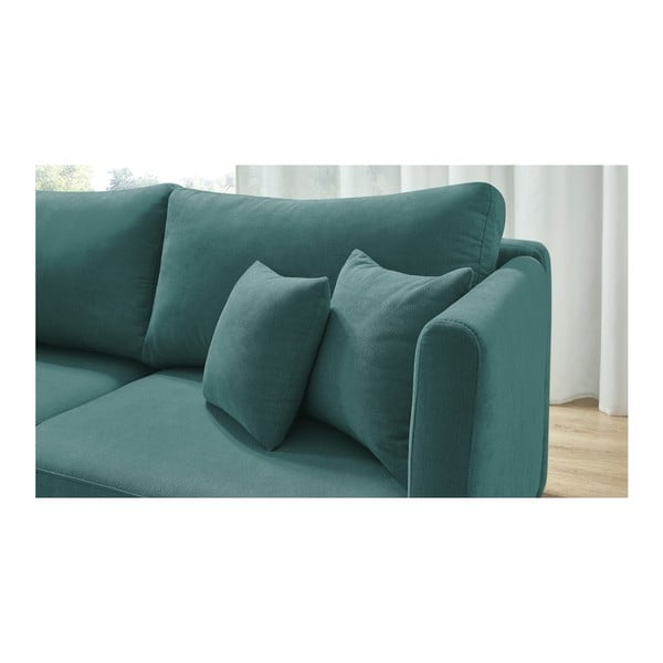 Niebieska rozkładana sofa 3-osobowa Bobochic Paris Triplo