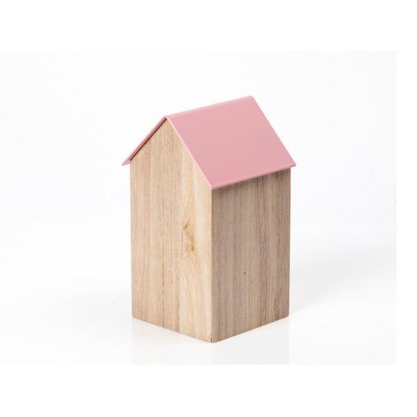 Różowe pudełko House Medium