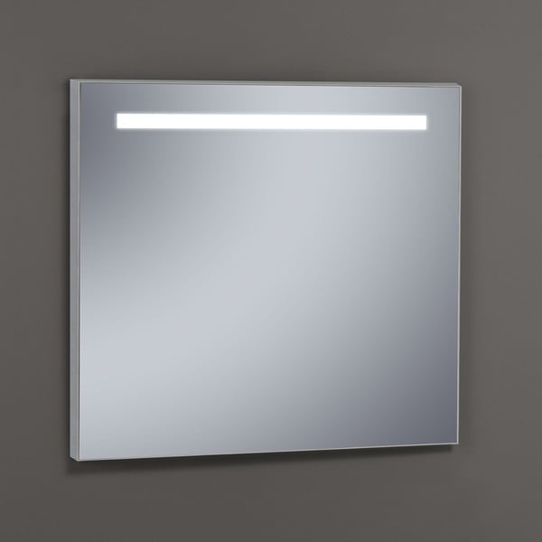Lustro z oświetleniem LED Miroir, 80x80 cm
