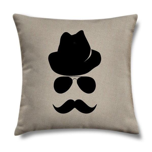 Poduszka Mustache, 43x43 cm