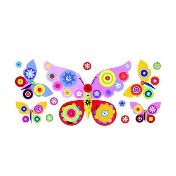 Naklejka Różowe motyle