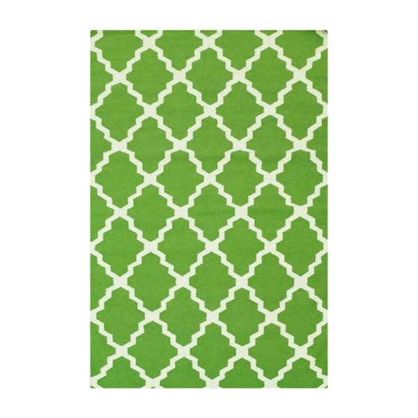 Ręcznie tkany dywan Kilim Design Four Green, 160x230 cm