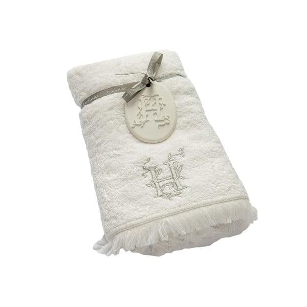 Ręcznik z inicjałem H, 50x90 cm