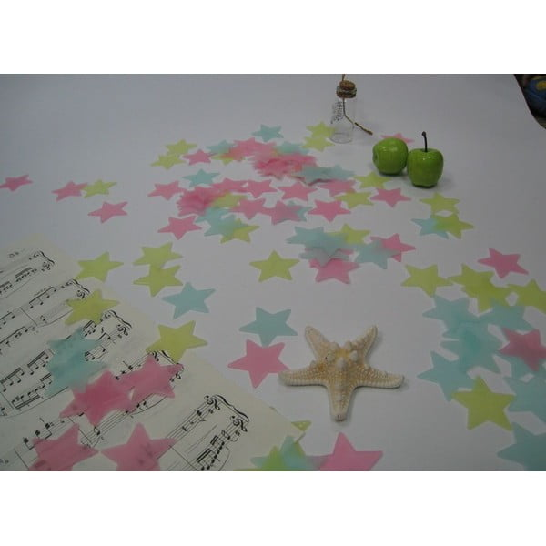 Zestaw 100 świecących gwiazdek Ambiance Stars