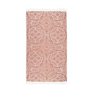 Pomarańczowy ręcznik hammam Kate Louise Camelia, 165x100cm