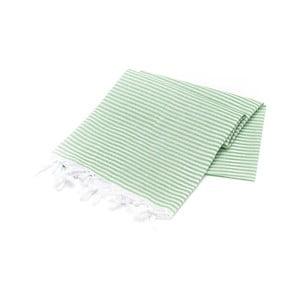 Zielony ręcznik Hammam Sarayli, 100x180cm