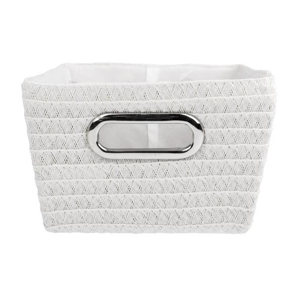 Biały koszyk Wenko Bamboo Chromo, szer. 28 cm