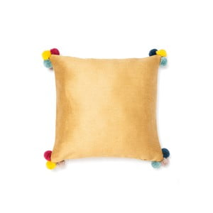 Złota poduszka Pom Pom