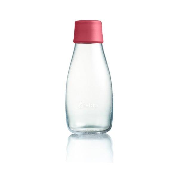 Malinowa butelka ze szkła ReTap z dożywotnią gwarancją, 300 ml