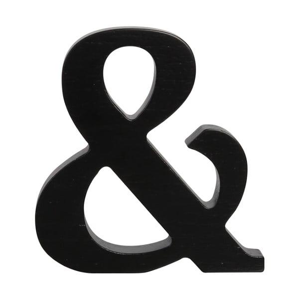 Czarna drewniana litera Typoland &