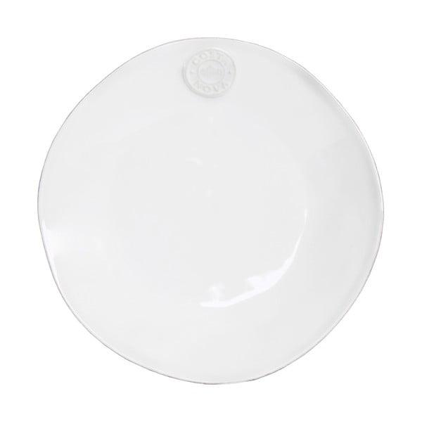 Biały ceramiczny talerz deserowy Ego Dekor Nova,Ø21 cm