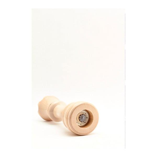 Młynek do przypraw z drewna bukowego Bisetti Queen, 23 cm