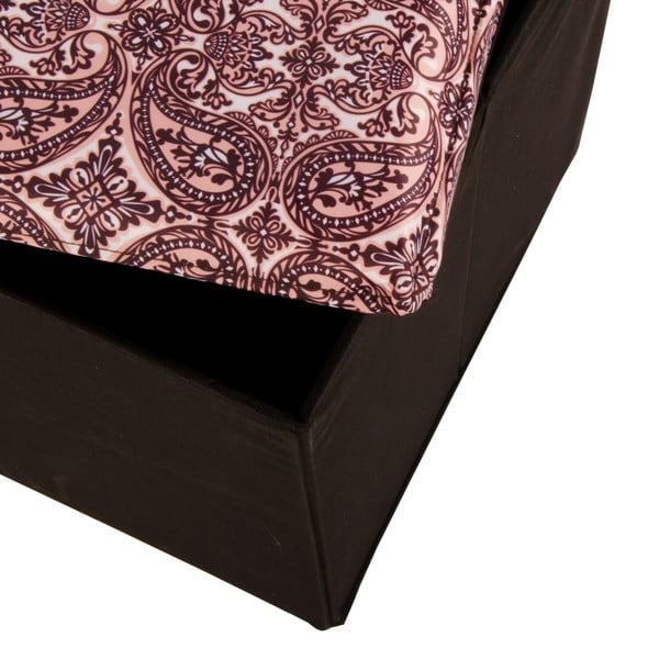 Pudło Puff Black, 38x38 cm