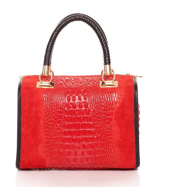 Skórzana torebka Bowling Red