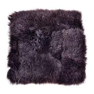 Poduszka futrzana do siedzenia z krótkim włosiem Blacky, 37x37 cm