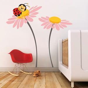 Naklejka Biedronka na kwiatku, 70x50 cm