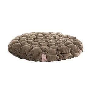Ciemnobeżowa poduszka do siedzenia wypełniona piłeczkami do masażu Linda Vrňáková Bloom, Ø 75 cm