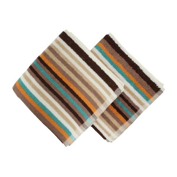 Zestaw 2 ręczników Cizgi Brown, 40x80 cm