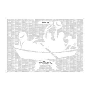 """Plakat """"Trzech panów w łódce (nie licząc psa)"""", 100x70 cm"""