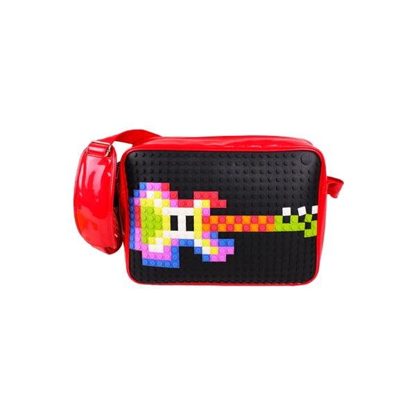 Pikselowa listonoszka, czarna/czerwona
