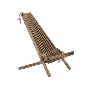 Leżak ekologiczny z brązowego drewna sosnowego EcoFurn EcoChair