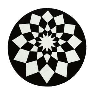 Dywan Deko - czarne wzory, 100 cm