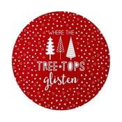 Zestaw 4 mat stołowych z motywem świątecznym Ladelle Glisten