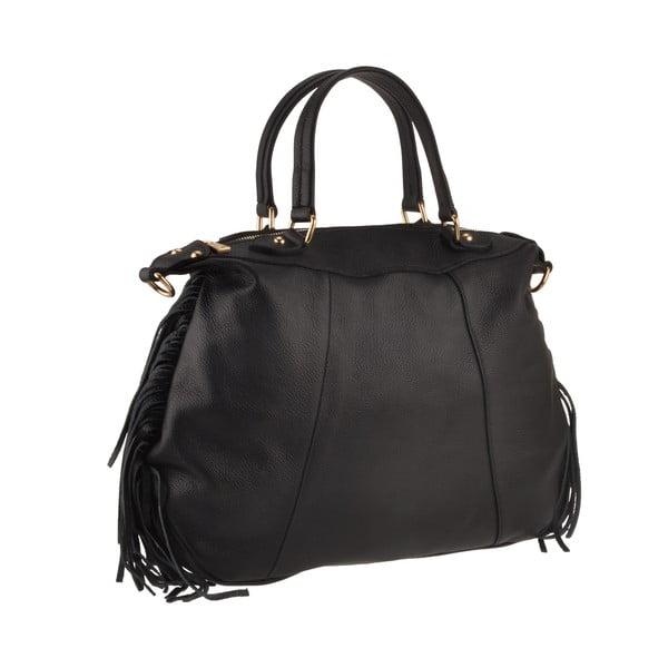 Skórzana torebka Emilio Masi Celaeno, czarna