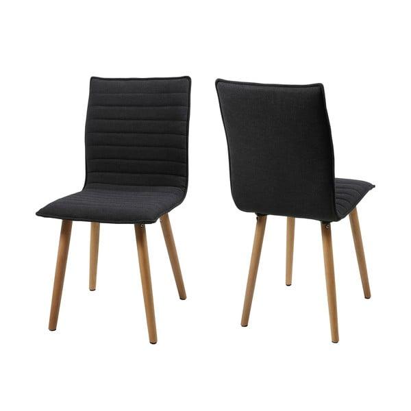 Krzesło do jadalni Karla, ciemnoszare