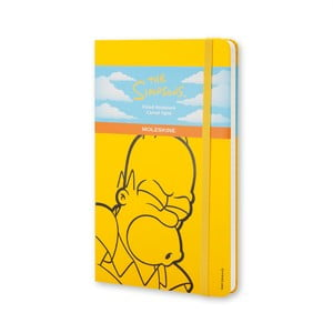 Żółty notes Moleskine The Simpsons, duży