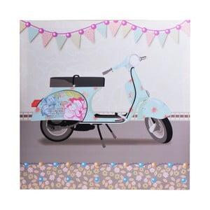 Obraz Blue Scooter, 50x50 cm