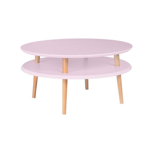 Różowy stolik Ragaba UFO Ø 70 cm