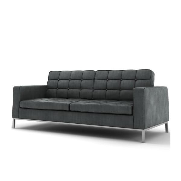 Szara   sofa trzyosobowa Wintech Eagle Soft