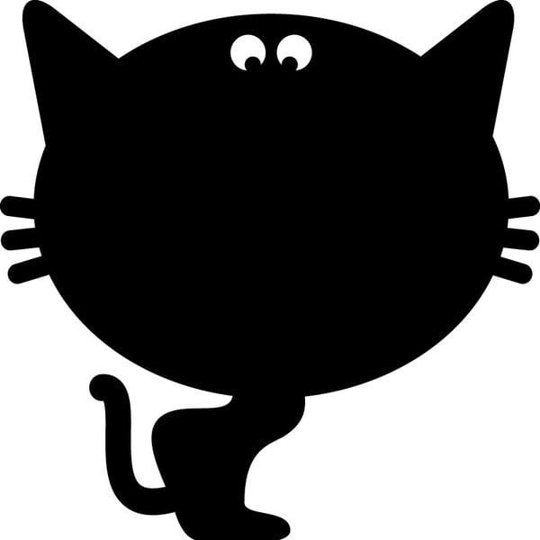 Tablica samoprzylepna z kredowym flamastrem Fanastick Cat