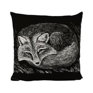 Poduszka Black Shake Sleepy Fox, 50x50 cm