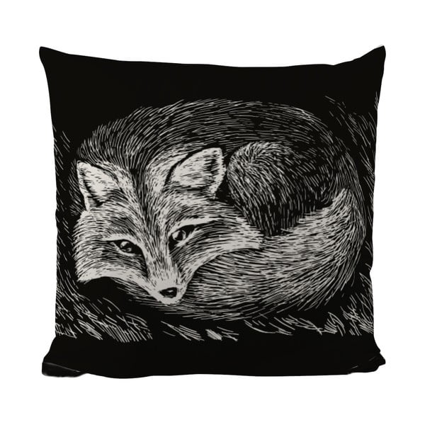 Poduszka Black Shake Sleepy Fox, 50x50 cm