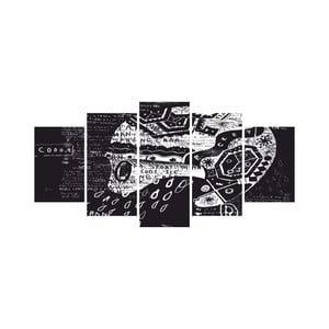 Wieloczęściowy obraz Black&White no. 99, 100x50 cm