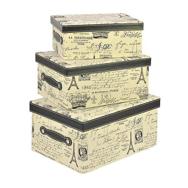 Komplet 3 pudełek Eiffel