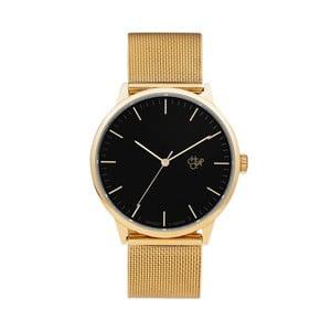 Zegarek ze złotym paskiem i czarnym cyferblatem CHPO Nando
