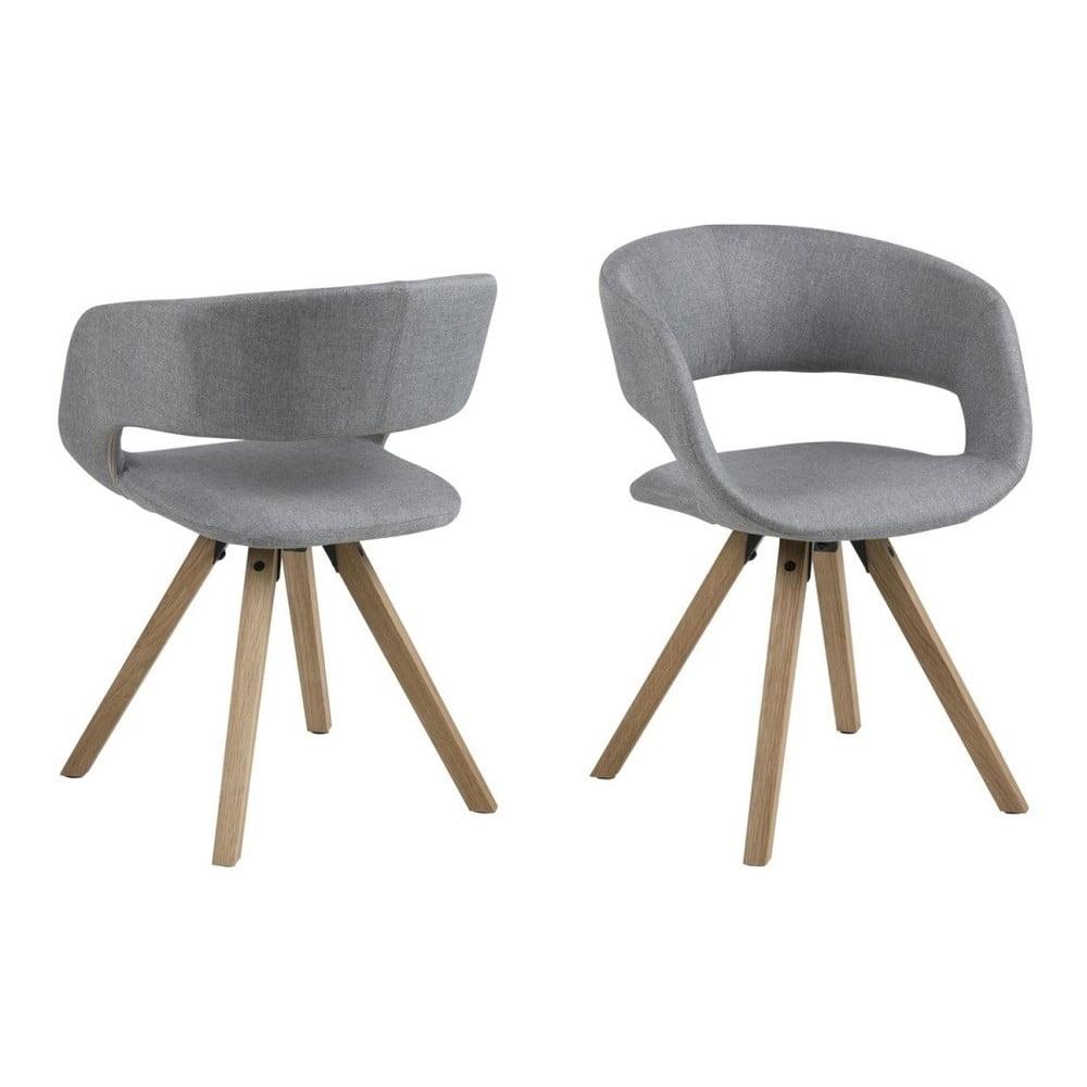 Szare krzesło Actona Grace Corsica